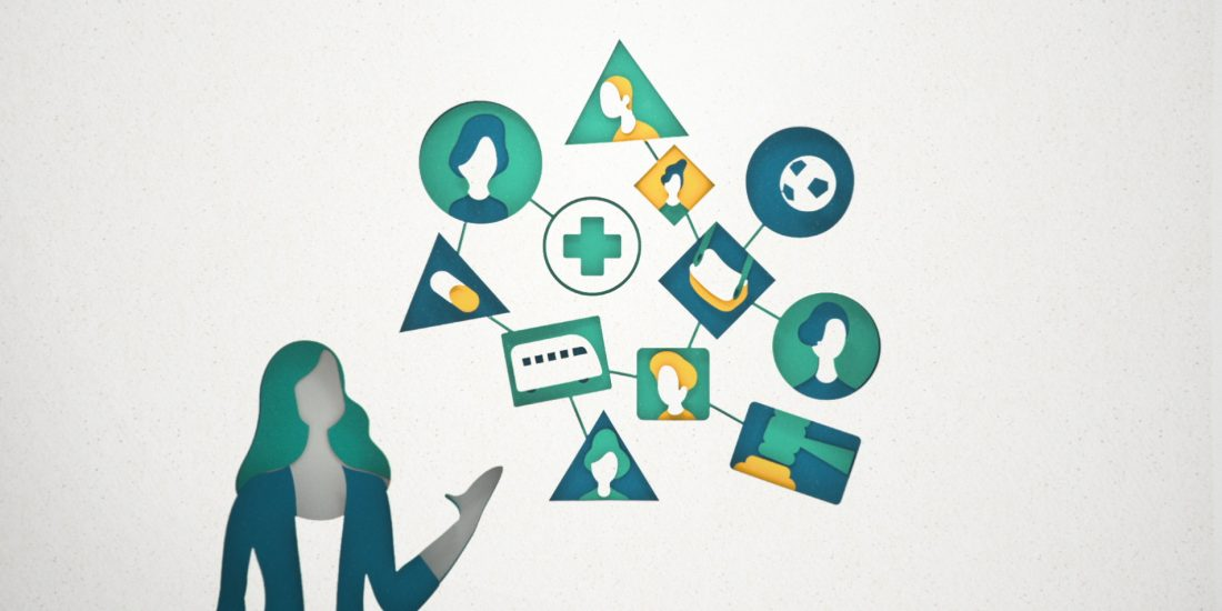 Infographic animatie ABN Amro public sector clients